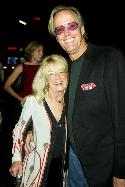 Peter Fonda and his wife Becky at the screening of the newly restored